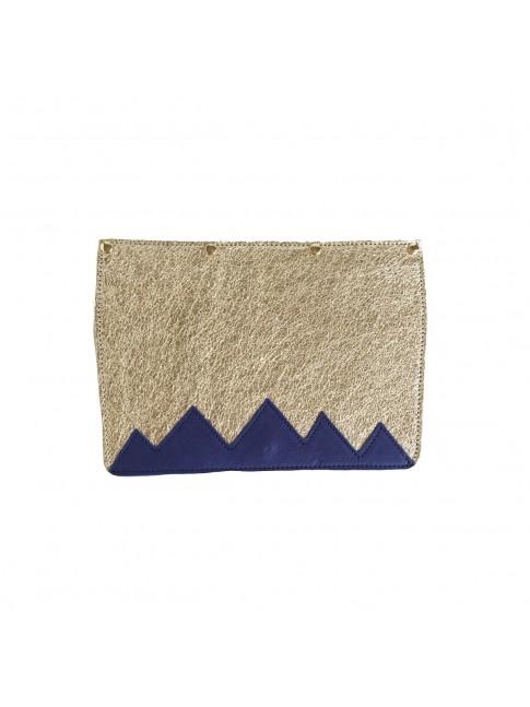 RABAT Doré metallisé et Montagnes bleues
