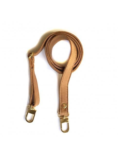 Bandoulière cuir camel